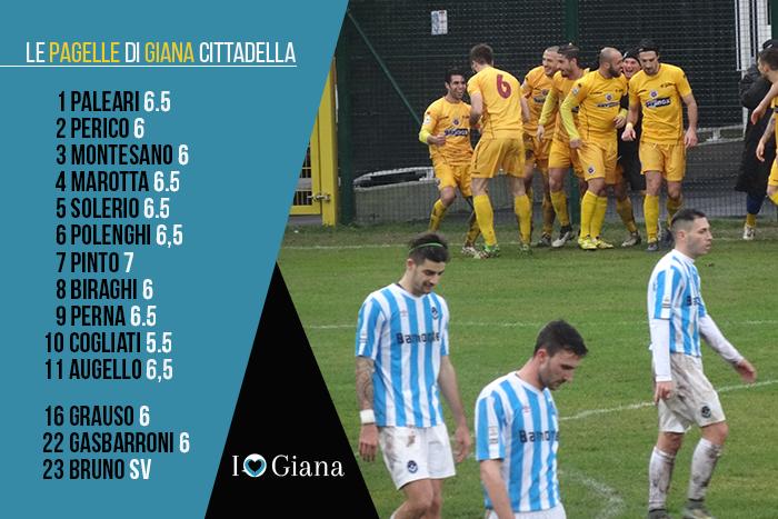 Giana Cittadella 0-1 Pagelle di giornata 24 Lega Pro Girone A - www.ilovegiana.it