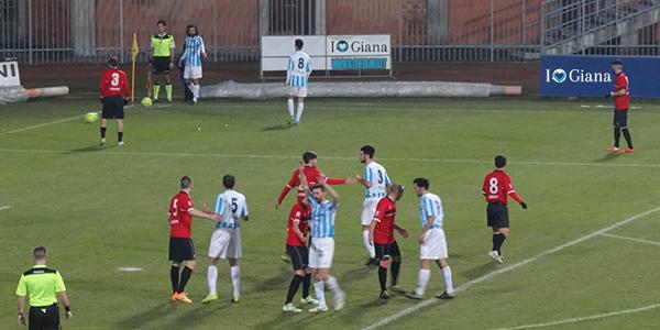 Pro Piacenza Giana 1-1 l'angolo da cui scaturisce il goal di Perico