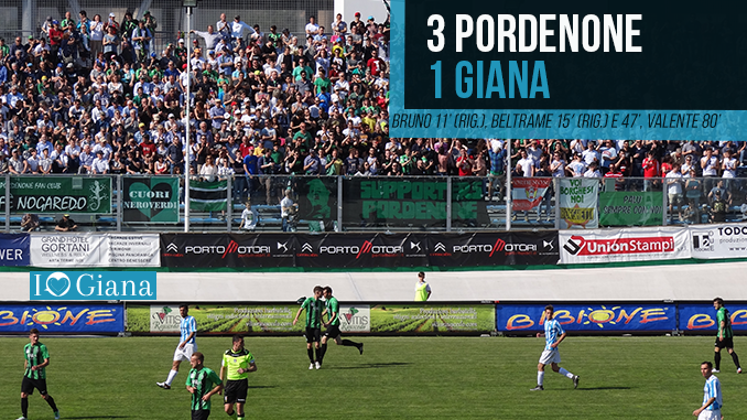 www.ilovegiana.it Classifica 34 giornata Lega Pro Girone A Pordenone Giana www.ilovegiana.it