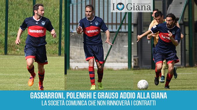 Gasbarroni Polenghi e Grauso nessun rinnovo www.ilovegiana.it