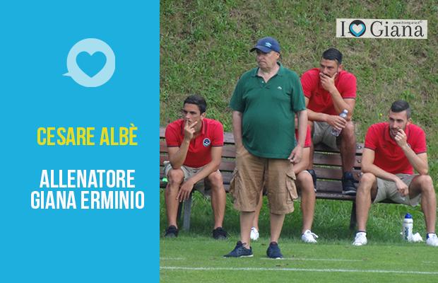 cesare albe allenatore giana erminio lega pro girone a gorgonzola www.ilovegiana.it