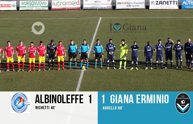 Risultato amichevole Albinoleffe Giana 1-1