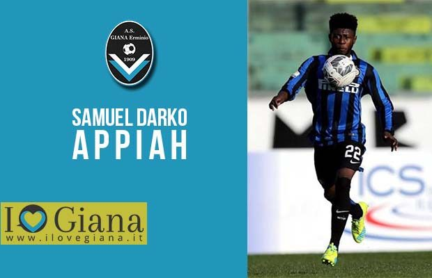 Samuel Darko Appiah quando era nelle giovanili dell'Inter Giana Erminio