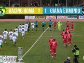 Editoriale 30 giornata lega pro Racing Roma Giana 1-1