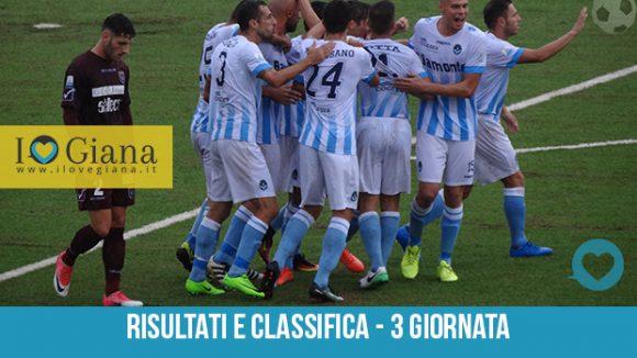 3 giornata Risultati e Classifica serie c girone a Pontedera Giana 1-1