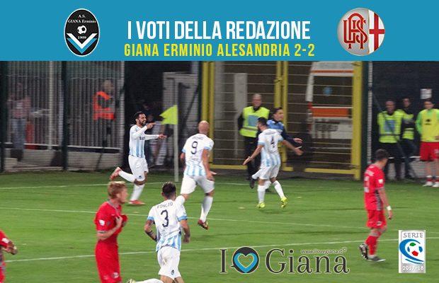 11 giornata Pagelle Giana Erminio Alessandria 2-2