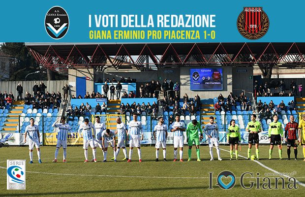 20 giornata Pagelle Giana Pro Piacenza 1-0