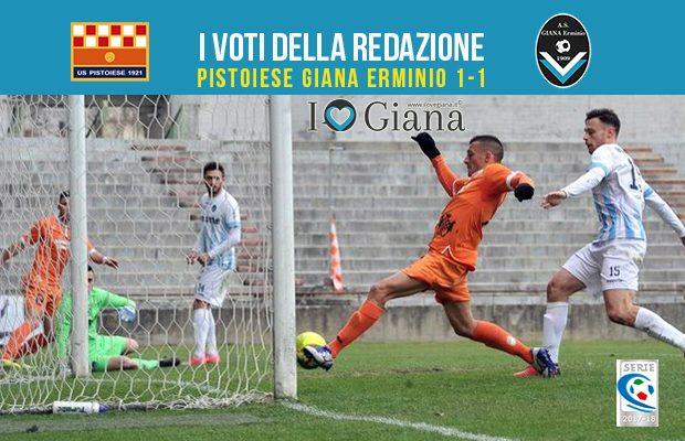 27 giornata Pagelle Pistoiese Giana Erminio 1-1