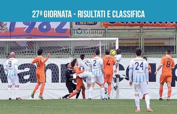 27 giornata Risultati e classifica serie C girone A Pistoiese Giana Erminio 1-1