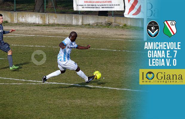 Amichevole Giana Erminio Legia varsavia 7-0
