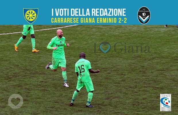 28 giornata Pagelle Carrarese Giana Erminio 2-2