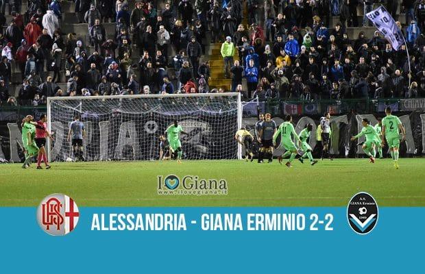 30 giornata serie C girone A Alessandria Giana Erminio 2-2