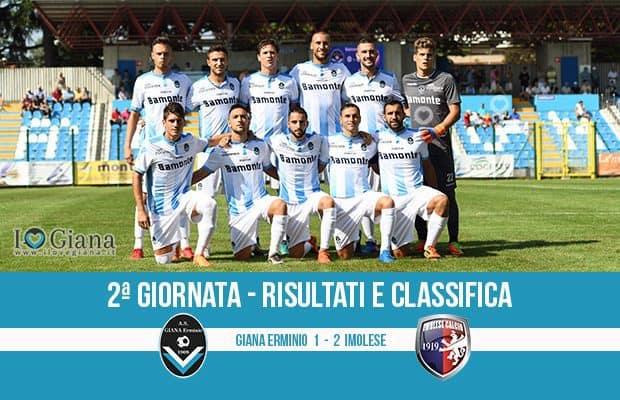Giana Erminio Imolese 1-2 risultati e classifica 2 giornata serie C girone B