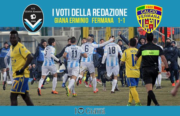 22 giornata Pagelle Giana Fermana 1-1