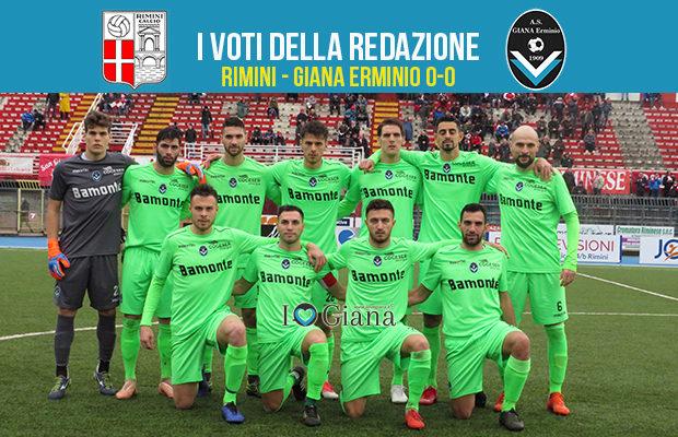 24 giornata serie c girone b Pagelle Rimini Giana 0-0