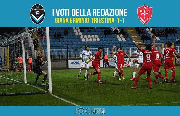Serie c 29 giornata Pagelle Giana Triestina 1-1