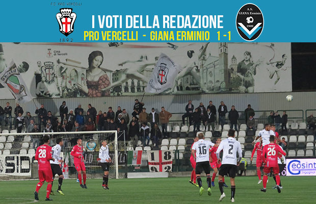 Pro Vercelli Giana 1-1 serie c girone a