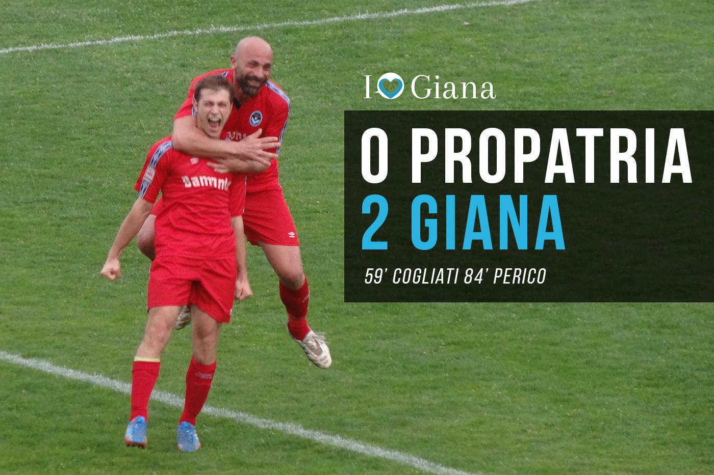Propatria Giana 0-2 Lega pro Girone A - www.ilovegiana.it