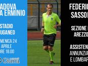 federico sassoli arbitro padova giana erminio lega pro girone a www.ilovegiana.it