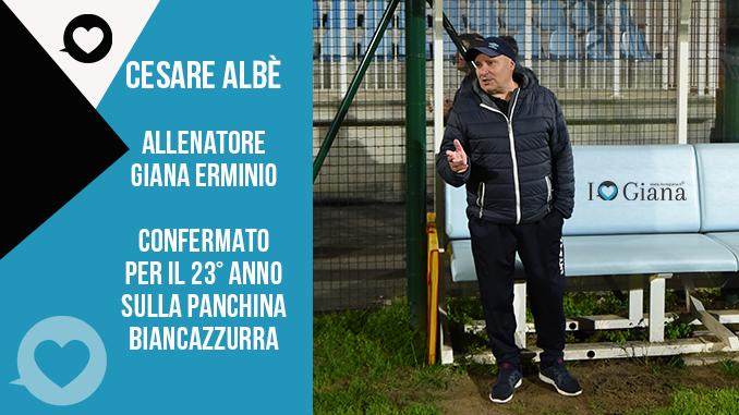www.ilovegiana.it CESARE ALBE confermato per il 23° anno alla guida dei biancazzurri www.ilovegiana.it