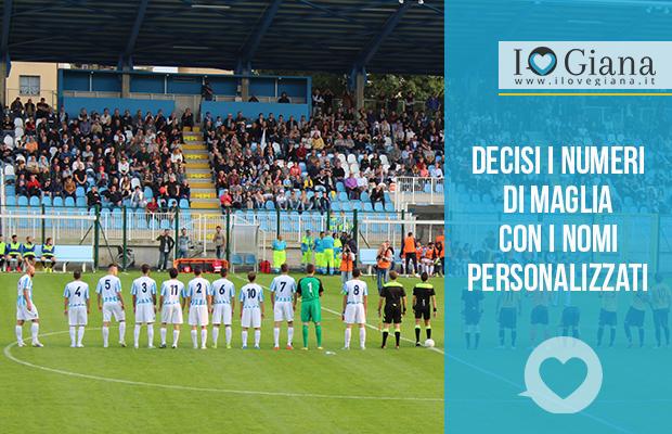 Numeri di maglia della Giana Erminio www.ilovegiana.it calcio lega pro girone a