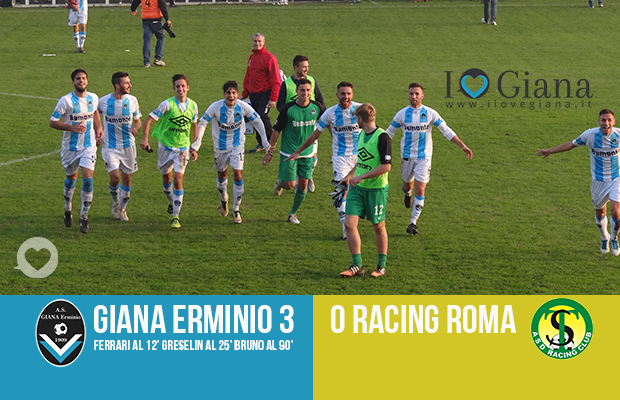 risultato lega pro girone a www-ilovegiana-it-11-giana-racing-roma-3-0