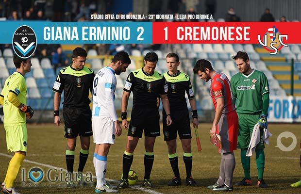 Risultati 23 giornata lega pro www.ilovegiana.it Giana Erminio - Cremonese 2-1