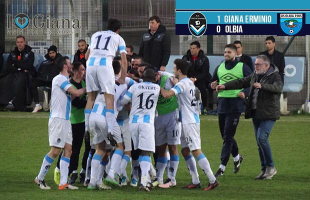 Goal di Riccardo Chiarello - Giana Olbia 1-0 - www.ilovegiana.it
