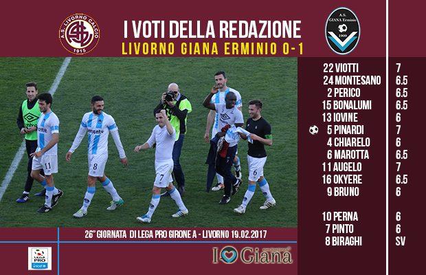 le pagelle 26 giornata Livorno Giana 0-1