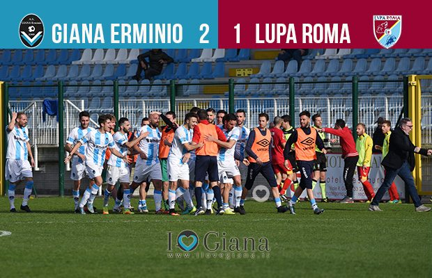 Risultato 29 giornata lega pro Giana Lupa Roma 2-1
