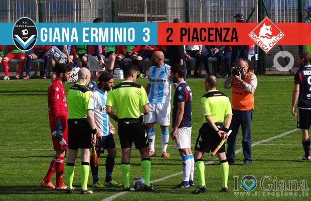 Risultati 33 giornata lega pro Giana Erminio Piacenza 3-2