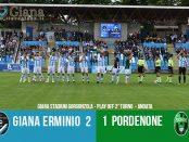 Risultati 40 play off lega pro 2° turno Giana Erminio Pordenone 2-1