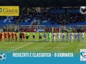 Serie C Girone A 8 giornata Risultati e Class Giana Pistoiese 3-0