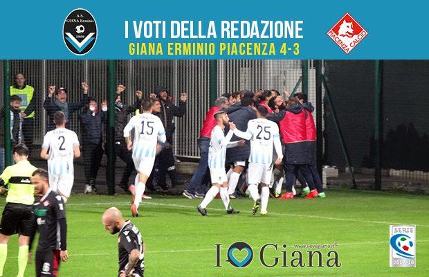 13 giornata Pagelle Giana Erminio Piacenza 4-3