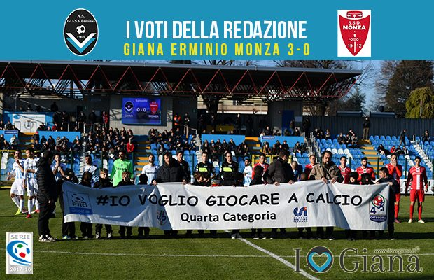 17 giornata Pagelle Giana Monza 3-0