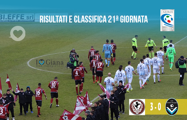 21ª giornata Ris e Class Arezzo Giana Erminio 4-2
