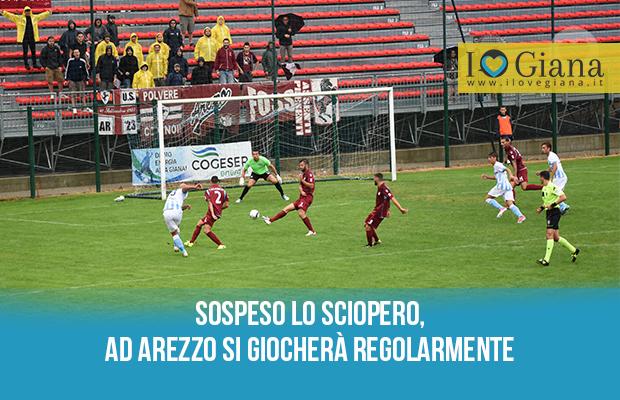 Sospeso lo sciopero Arezzo Giana