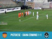 27 giornata serie C girone A Pistoiese Giana Erminio 1-1