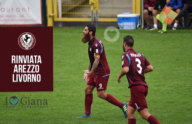 Arezzo Livorno rinviata serie c girone a