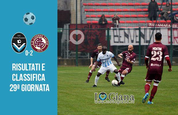 29 giornata Ris e Class Giana Livorno 0-2