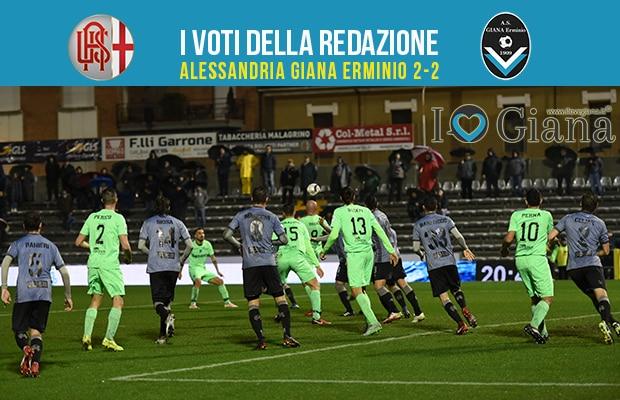 30 giornata Pagelle Alessandria Giana erminio 2-2