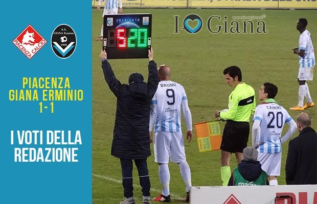 32 giornata Pagelle Piacenza Giana 1-1