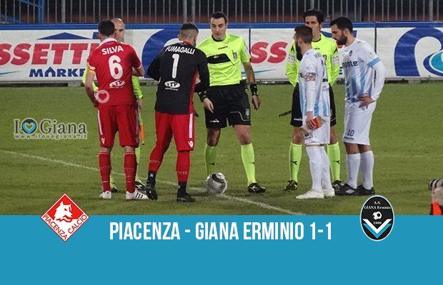 32 giornata serie C Piacenza Giana Erminio 1-1