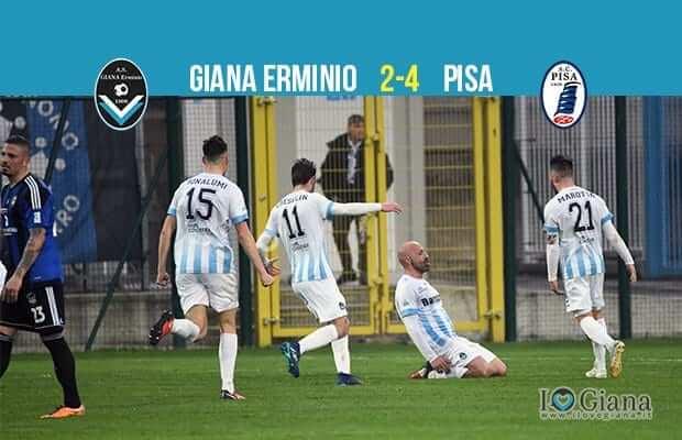 serie c girone a 33 giornata serie C girone A Giana E Pisa 2-4