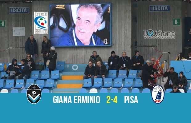 33 giornata serie C girone A Giana Erminio Pisa 2-4