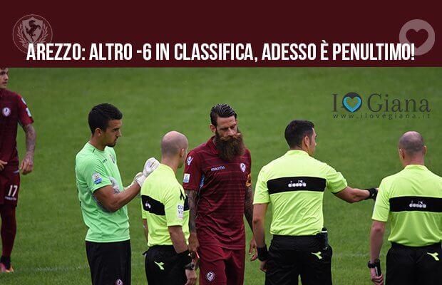 serie c girone a Arezzo altro -6 in classifica adesso è penultimo