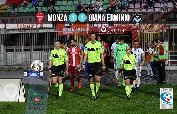 Marco Guarnieri di Empoli arbitro Monza Giana Erminio 1-1 derubata