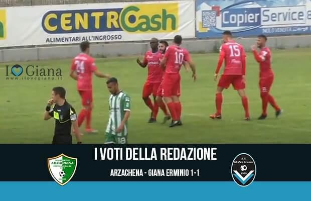 serie c girone a 38 giornata Pagelle Arzachena Giana 1-1