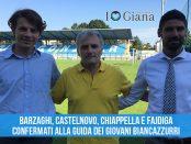 Barzaghi Castelnovo Chiappella Fajdiga confermati guida giovani Biancazzurri
