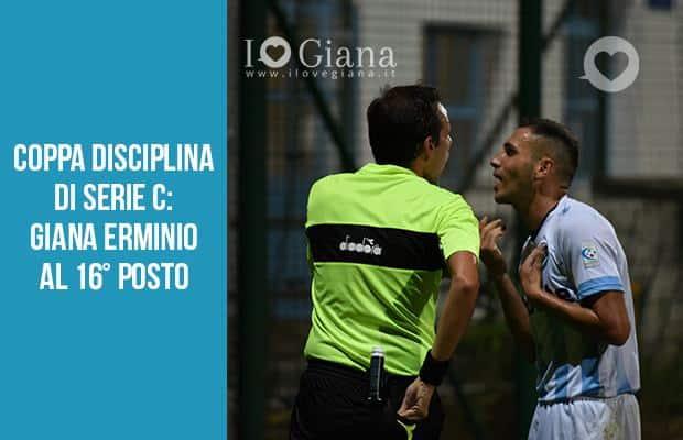 Coppa Disciplina di Serie C Giana Erminio al sedicesimo posto